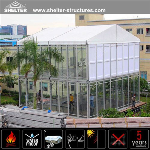 Events Marquee with Double Deck & Events Marquee | Double Decker Tent | Two Story Tent | Event Tent