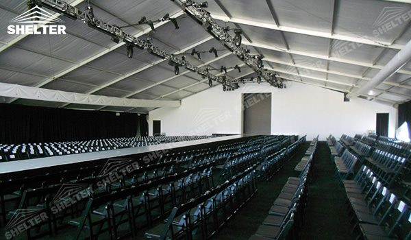 Stage Tent Used as Fashion Show Canopy