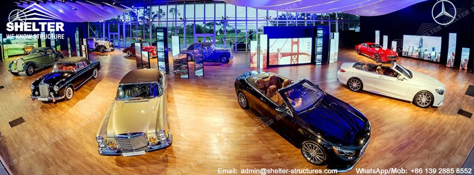 2016 Pebble Beach Concours - Cube Tent for Benz Exhibition - Custom Hall Structure for Sale -1
