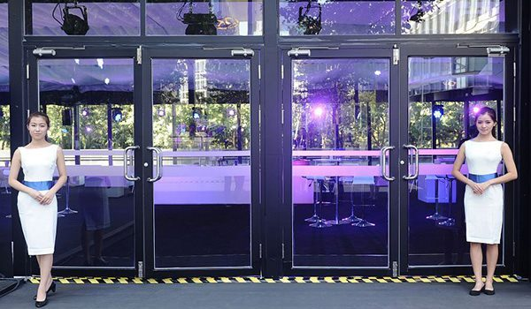Shelter Tent Structures - Double Wing Glass Door