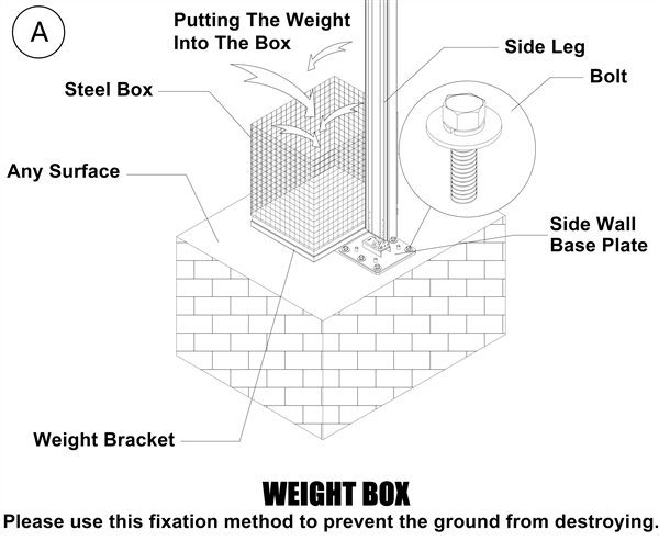 Shelter Tent Structures - weight box