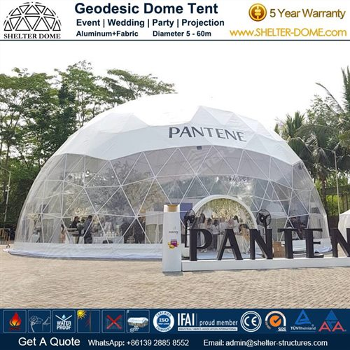 Dia.60ft Dome Store with Panoramic Bay Window & Dome Store with Panoramic Window - Geodome Tent - Shelter Structures