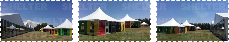 Reception Tent in Zimbabwe - 25 x 100m Hospitality Hall with Glass Wall -2
