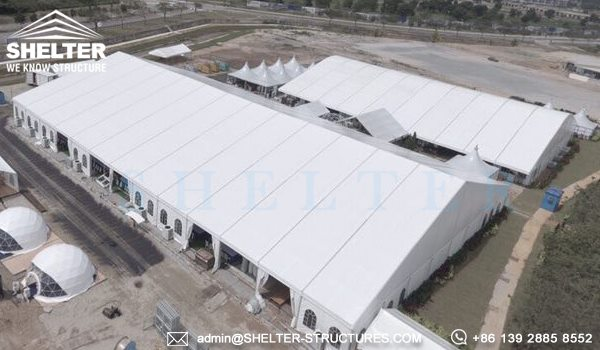 Royal Wedding Tent by Shelter - 40 x 65m Structure Tent with French Windows -7