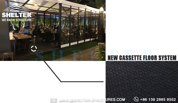 small gala tent with new cassette floor system