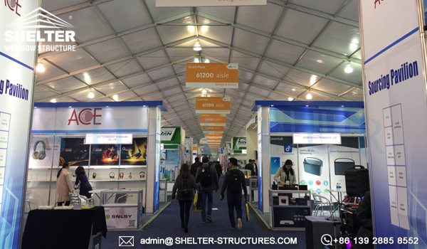 Expo Solution for CES 2018 - Large Tradeshow Tent for Sale - Purchase Expo Marquee for Tented Exhibition (8)