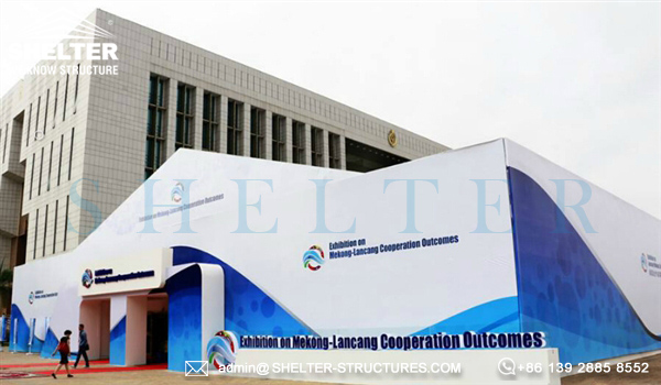 Shelter large exhibitionTent for Mekong-Lancang Cooperation Achievement Exhibition held in Cambodia (4)