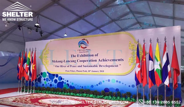 Shelter large exhibitionTent for Mekong-Lancang Cooperation Achievement Exhibition held in Cambodia (8)