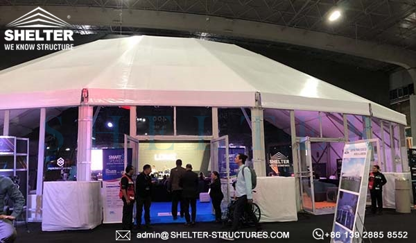 EIS 2019 Event Industry Show Mexico - Diamond Sponsor Polygonal Stage Tent (5)